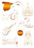 widoków spanish symbole ilustracja wektor