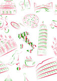 widoków włoscy bezszwowi symbole Zdjęcia Royalty Free