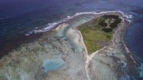 Widoków Z Lotu Ptaka cankys los roques Venezuela zdjęcia royalty free
