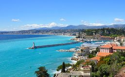 Widok Ładny, śródziemnomorski kurort, Cote d ` Azur, Francja zdjęcie royalty free