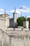 Widok ściany wierza Londyn, Londyn, Wielki Brytania obraz stock