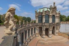 Widok Ścienny pawilon w Zwinger pałac, Drezdeński Niemcy obraz stock