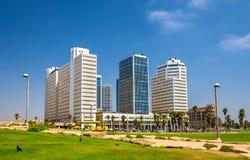 Widok Śródziemnomorski nabrzeże w Tel Aviv obrazy royalty free