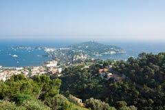 Widok Świątobliwa Cajgowa nakrętka Ferrat Riviera Zdjęcia Royalty Free