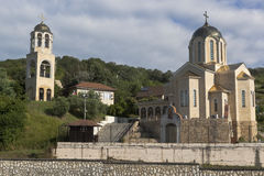 Widok świątyni St Nicholas matka bóg ikony ` Sumela monasteru ` w wiosce Moldovka i Wonderworker, Sochi Zdjęcie Royalty Free