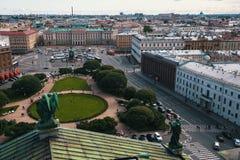 Widok świętego Isaac ` s kwadrat od St Isaac ` s katedry w St Petersburg Obrazy Royalty Free
