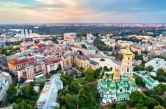 Widok świętego Sophia katedra w Kijów, Ukraina fotografia royalty free