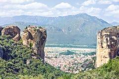 Widok Świętej trójcy monaster Agia Triada Obrazy Royalty Free