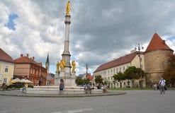 Widok Święty Maryjny zabytek wewnątrz stać na czele katedrę Zagreb Zdjęcia Royalty Free