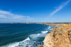Widok święty Vincent Przylądek Cabo De Sao Vincente w Sagres, Algarve, Portugalia Fotografia Stock