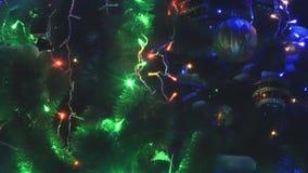 Widok światła iluminuje w xmas drzewie zbiory wideo