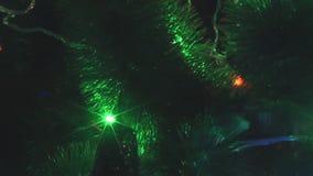 Widok światła iluminuje w xmas drzewie zdjęcie wideo