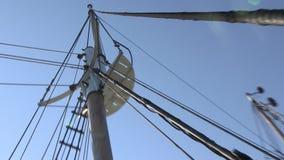 Widok żagiel łódź i niebo zdjęcie wideo