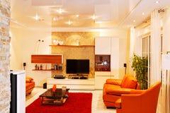 Widok żywy pokój. zdjęcie royalty free