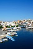 Widok Agios Nikolaos, Crete Zdjęcie Stock