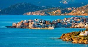 Widok Agios Nikolaos, Crete, Grecja Zdjęcia Stock