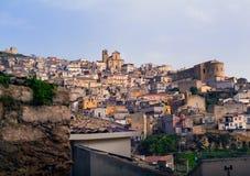 Widok Agira, Sicily Obrazy Stock
