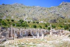 Widok agora przy antycznym miastem Sagalassos Zdjęcie Royalty Free
