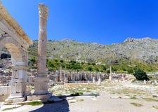 Widok agora przy antycznym miastem Sagalassos Zdjęcia Stock