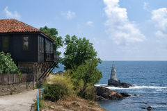 Widok Ahtopol, Bułgaria Zdjęcie Royalty Free