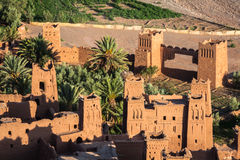 Widok Ait Benhaddou Kasbah, Ait Ben Haddou, Ouarzazate, Morocc zdjęcie royalty free