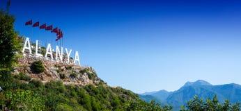 Widok widok Alanya indyk Góry Natura niebo zdjęcia royalty free