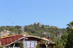 Widok Alanya kasztel od centrum miasta Alanya, Turcja Zdjęcia Stock