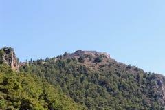 Widok Alanya kasztel od centrum miasta Alanya, Turcja Zdjęcie Royalty Free