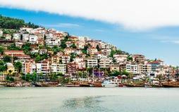 Widok Alanya miasto zdjęcia stock