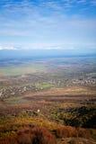 Widok Alazani dolina w Gruzja zdjęcia stock
