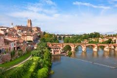 Widok Albi, Francja Obrazy Royalty Free