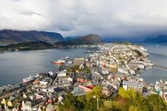 Widok Alesund w Norwegia Obrazy Stock