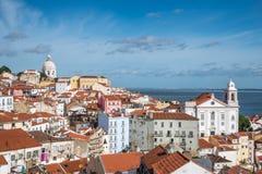 Widok Alfama, Lisbon, Portugalia fotografia stock