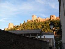 Widok Alhambra od Albayzin & x28; Albaicin& x29; w Granada Obrazy Stock