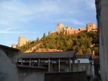 Widok Alhambra od Albayzin & x28; Albaicin& x29; w Granada Obraz Stock