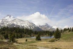 Widok Alp Flix Zdjęcie Royalty Free