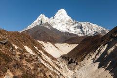 Widok Ama Dablam 6814 m - Everest region, Nepal, himalaje Fotografia Stock