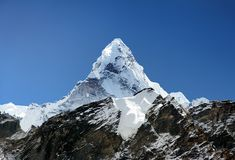 Widok Ama Dablam na sposobie Everest baza Campb obrazy stock