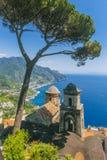 Widok Amalfi wybrzeże fotografia stock