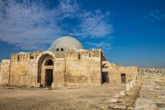 Widok Amman cytadeli meczet w Jordania Zdjęcia Royalty Free