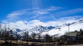 Widok Andes fotografia royalty free