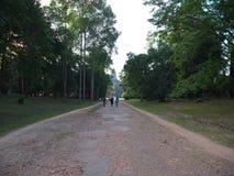 Widok Angkor Wat od wschodniej bramy, Siem Przeprowadza żniwa Obraz Royalty Free
