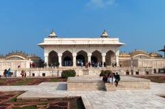 Widok Anguri bagh Mahal w Czerwonym Agra forcie i Khas Obrazy Stock