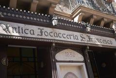 Widok Antica Focacceria San Francesco zdjęcie royalty free