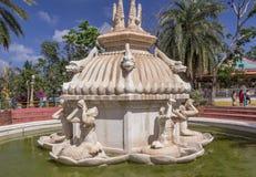 Widok antyczne statuy, rzeźb siklawy fontanna część, Chennai, India, Jan 29 2017 obraz stock