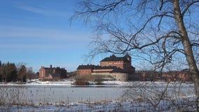 Widok antyczny forteca Hameenlinna Finlandia zdjęcie wideo