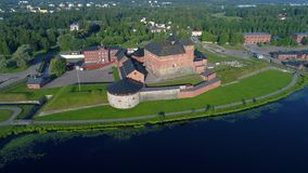 Widok antyczny forteca miasto Hameenlinna Finlandia anteny wideo zbiory
