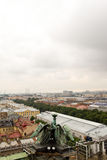 Widok antyczny miasto od wierzchołka Zdjęcia Stock