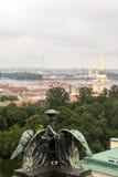 Widok antyczny miasto od wierzchołka Obrazy Royalty Free