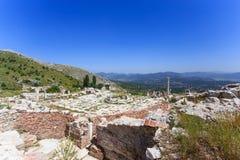 Widok antyczny miasto Sagalassos Zdjęcia Stock